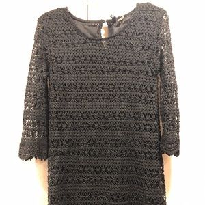 Divided by H&M Sheath 3/4 sleeve Black Lace Dress